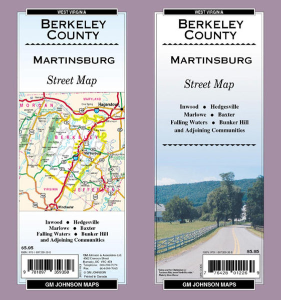 Buy map Berkeley County and Martinsburg, West Virginia by GM Johnson