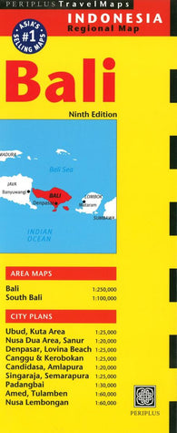 Buy map Bali, Indonesia by Periplus Editions