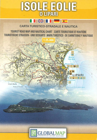 Buy map Aeolian Islands and Lipari, Italy by Litografia Artistica Cartografica