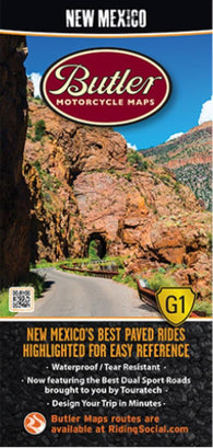 Buy map New Mexico G1 Map by Butler Motorcycle Maps