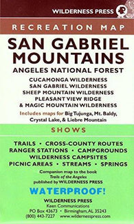 Buy map San Gabriel Mountains and Angeles National Forest, California Trails Recreation Map by Wilderness Press