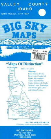 Buy map Valley County, Idaho by Big Sky Maps