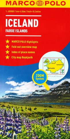 Buy map Iceland & Faroe Islands by Marco Polo Travel Publishing Ltd