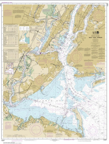 Buy map New York Harbor (12327-106) by NOAA