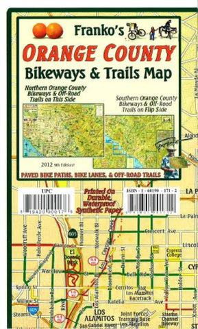 Buy map California Map, Orange County Bikeways and Trails, folded by Frankos Maps Ltd.