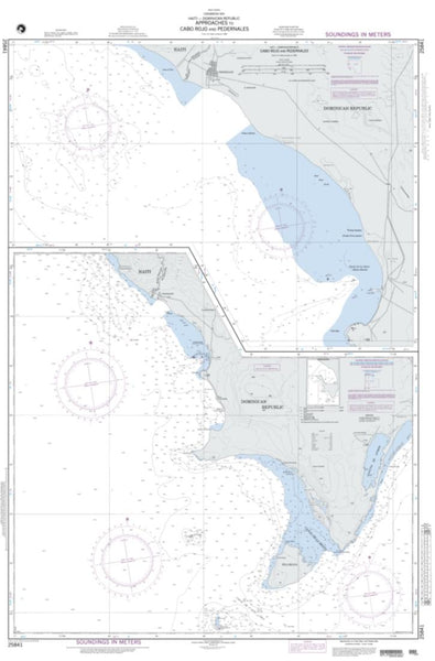 Buy map Approaches To Cabo Rojo And Pedernales (NGA-25841-9) by National Geospatial-Intelligence Agency