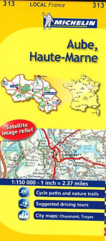 Buy map Aube, Haute-Marne (313) by Michelin Maps and Guides