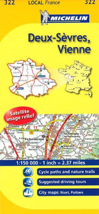 Buy map Deux-Sevres, Vienne (322) by Michelin Maps and Guides