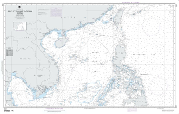Buy map Gulf Of Thailand To Taiwan Including The Philippines (NGA-550-7) by National Geospatial-Intelligence Agency