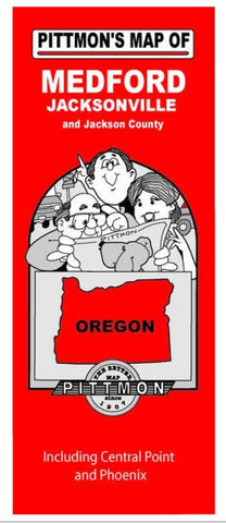 Buy map Medford and Jackson County, Oregon by Pittmon Map Company
