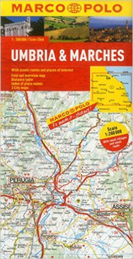 Buy map Umbria and The Marches, Italy by Marco Polo Travel Publishing Ltd