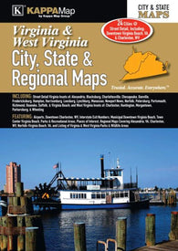 Buy map Virginia & West Virginia - City, State, and Region Atlas by Kappa Map Group
