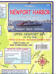 Buy map California Map, Newport Harbor/Upper Newport Bay Guide 2007 by Frankos Maps Ltd.
