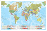 Buy map World, Political, Laminated Wall Map with Flags by Marco Polo Travel Publishing Ltd