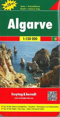 Buy map Algarve, Portugal by Freytag-Berndt und Artaria