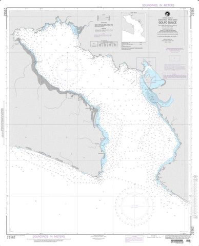 Buy map Golfo Dulce (NGA-21562-14) by National Geospatial-Intelligence Agency
