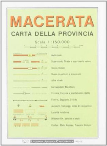 Buy map Macerata Province, Italy by Litografia Artistica Cartografica