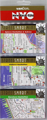 Buy map New York City, Manhattan StreetSmart Mini Map by VanDam