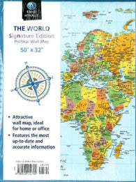 Buy map World, Folded Wall Political Map, Signature Ed by Rand McNally
