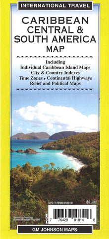 Buy map Caribbean Central & South America Map by GM Johnson
