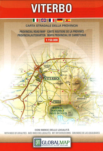 Buy map Viterbo Province, Italy by Litografia Artistica Cartografica