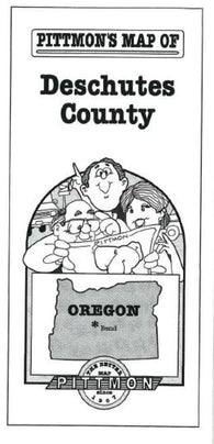 Buy map Deschutes County, Oregon by Pittmon Map Company