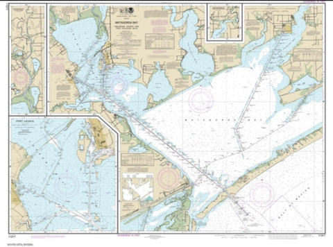 Buy map Matagorda Bay including Lavaca and Tres Palacios Bays; Port Lavaca; Continuation of Lavaca River; Continuation of Tres Palacios Bay (11317-33) by NOAA