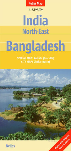 Buy map India, Northeast and Bangladesh by Nelles Verlag GmbH