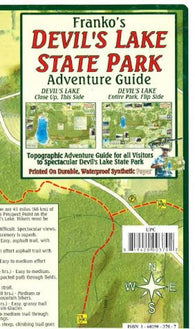 Buy map Devils Lake State Park Adventure Guide by Frankos Maps Ltd.