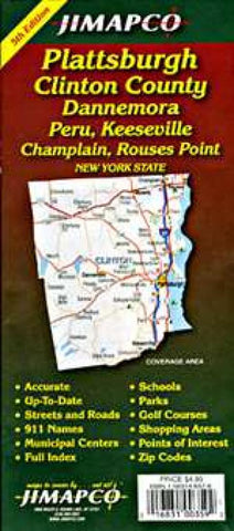 Buy map Plattsburgh and Clinton County, New York by Jimapco