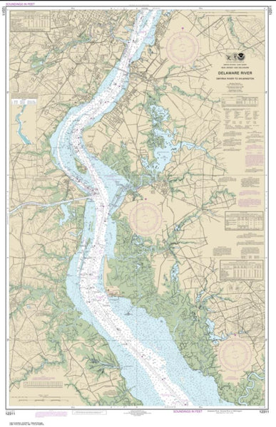 Buy map Delaware River Smyrna River to Wilmington (12311-46) by NOAA