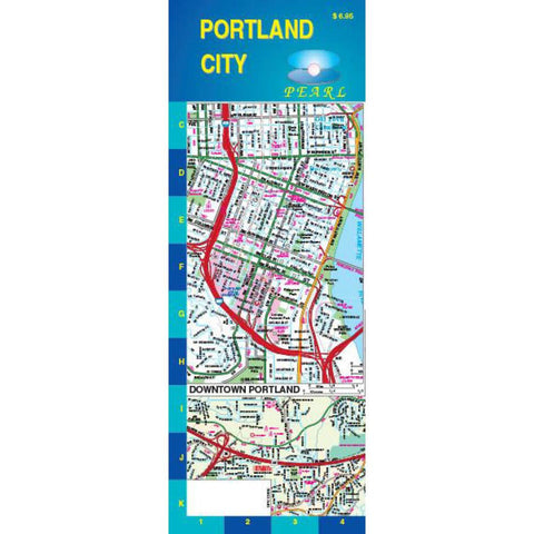 Buy map Portland, Oregon, Pearl Map, Laminated by GM Johnson