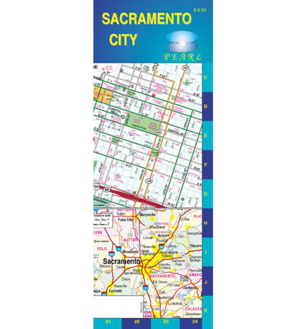 Buy map Sacramento, California, Pearl Map, laminated by GM Johnson