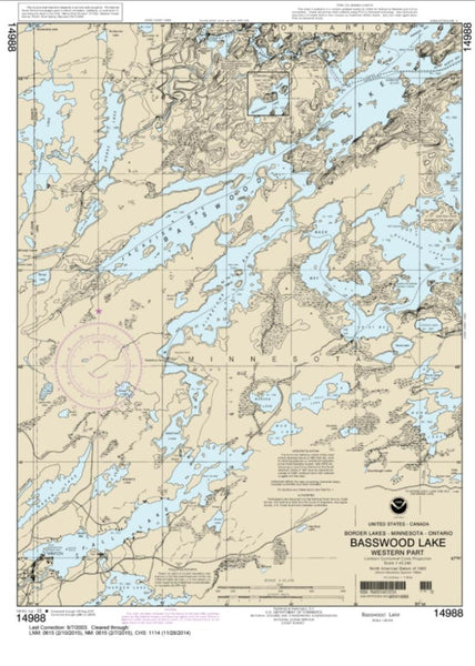 Buy map Basswood Lake, Western Part (14988-10) by NOAA