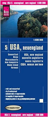 Buy map USA, New England by Reise Know-How Verlag
