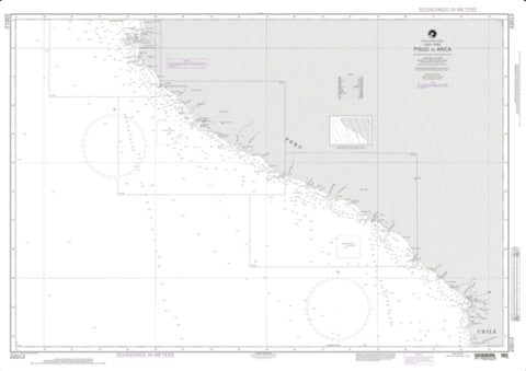 Buy map Coasts Of Peru And Chile, Pisco To Arica (NGA-22012-31) by National Geospatial-Intelligence Agency