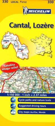 Buy map Cantal Lozre, France (330) by Michelin Maps and Guides