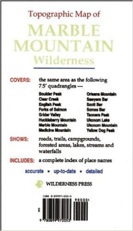 Buy map Marble Mountain Wilderness, California, Topographic by Wilderness Press