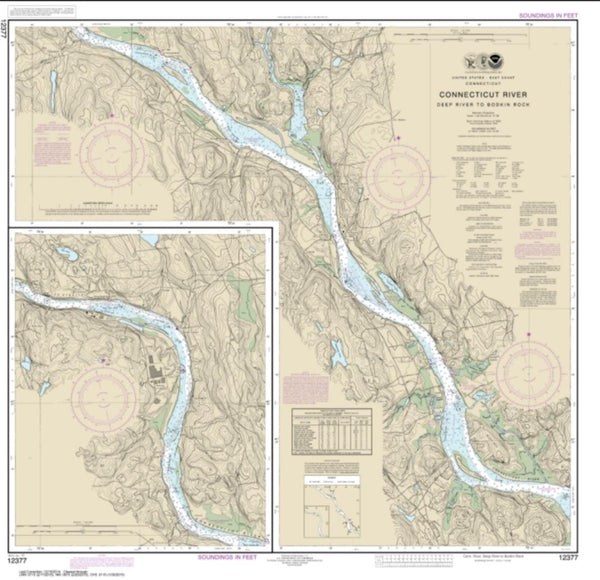 Buy map Connecticut River Deep River to Bodkin Rock (12377-15) by NOAA