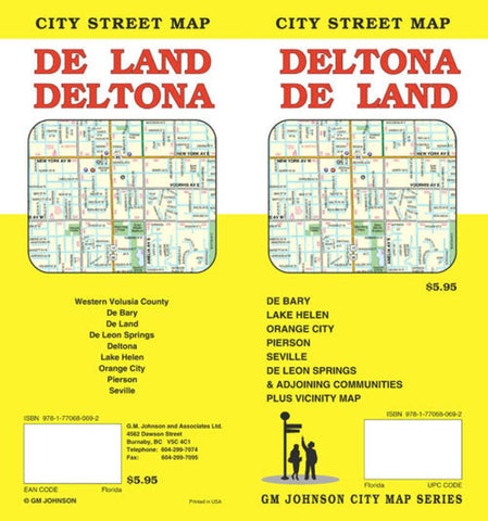 Buy map Deltona and Deland, Florida by GM Johnson