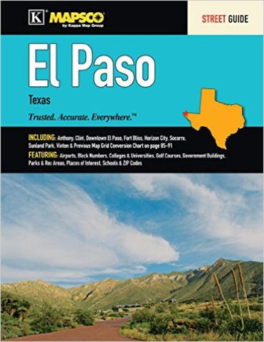 Buy map El Paso Texas Street Guide by Kappa Map Group