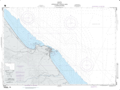 Buy map Approaches To Puerto Limon And Bahia De Moin (NGA-28049-13) by National Geospatial-Intelligence Agency