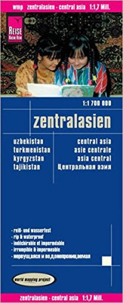 Buy map Asia, Central: Uzbekistan, Turkmenistan, Kyrgyzstan, Tajikistan by Reise Know-How Verlag