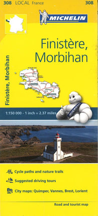 Buy map Finistre Morbihan, France (308) by Michelin Maps and Guides