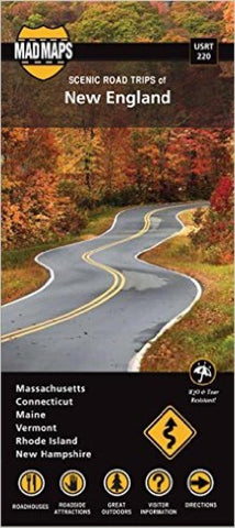 Buy map New England, Regional Scenic Tours, Part 2 by MAD Maps