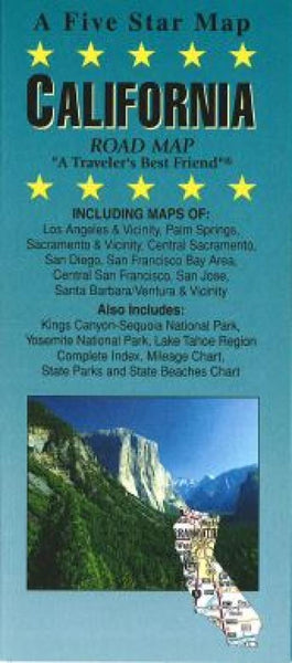 Buy map California by Five Star Maps, Inc.
