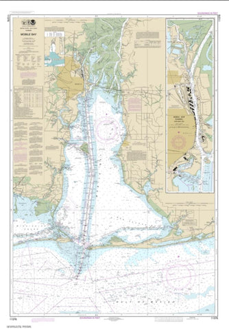 Buy map Mobile Bay Mobile Ship Channel-Northern End (11376-57) by NOAA