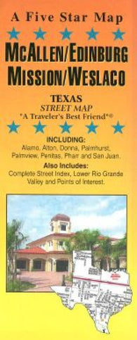 Buy map McAllen, Edinburg, Mission and Weslaco, Texas by Five Star Maps, Inc.