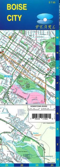Buy map Boise, Idaho, Pearl Map, laminated by GM Johnson