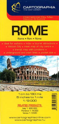Buy map Rome, Italy by Cartographia